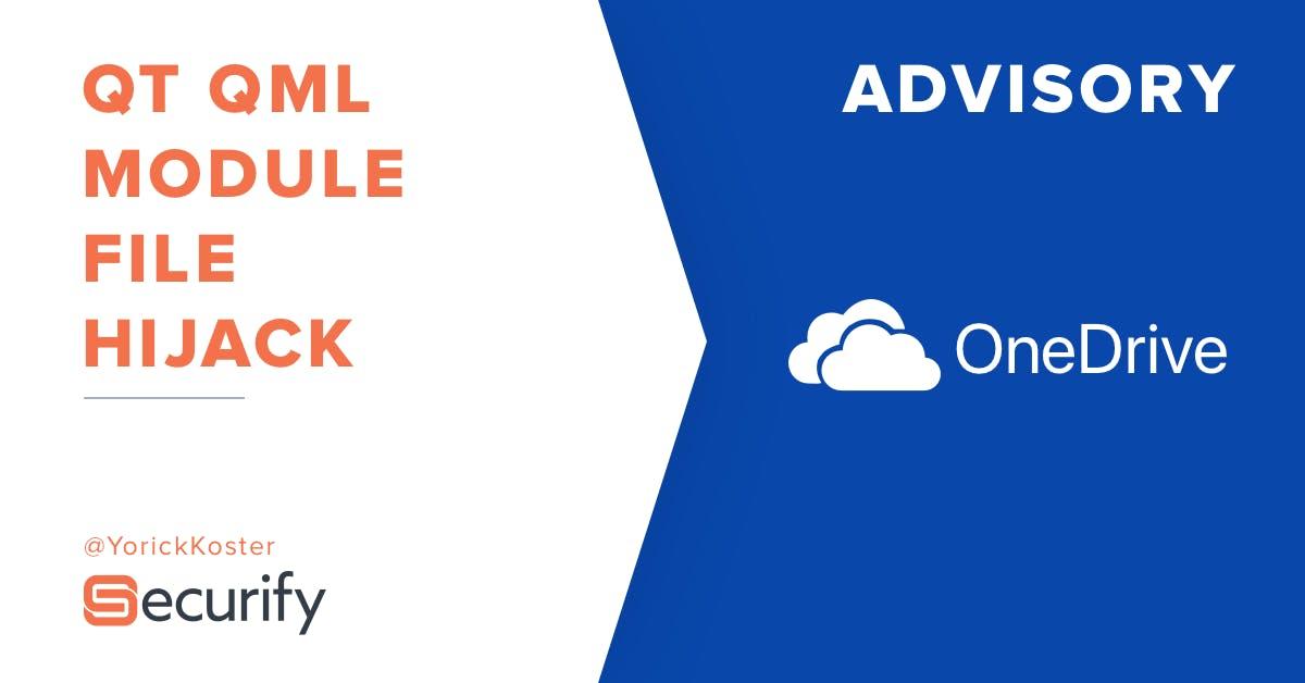 Microsoft OneDrive client for Windows Qt QML module hijack