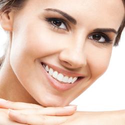 Woman with Porcelain Dental Veneers