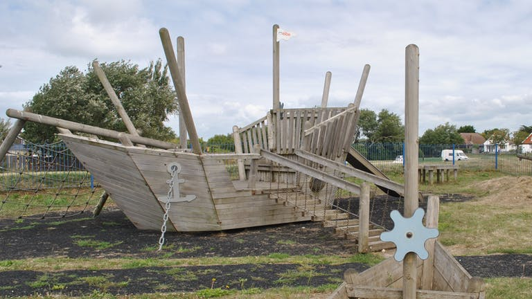 Pirate Ship at East Beach Green