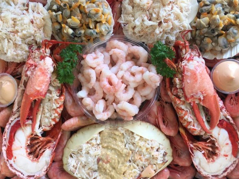 Potters of Selsey's Seafood Platter
