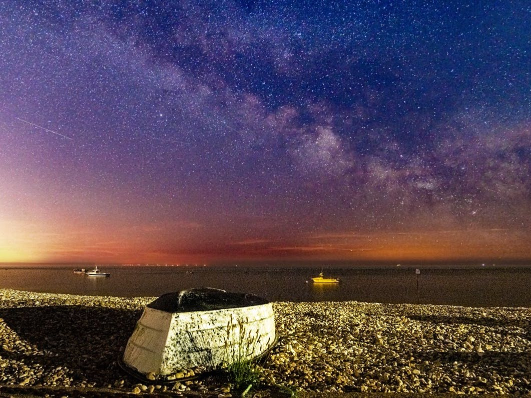 Milky Way captured at East Beach, courtesy of CoastalJJ