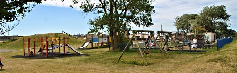 Play equipment on East Beach Green, Selsey