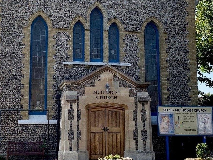 Selsey Methodist Church front door