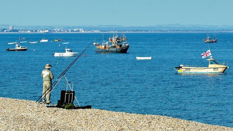 Fishing at East Beach