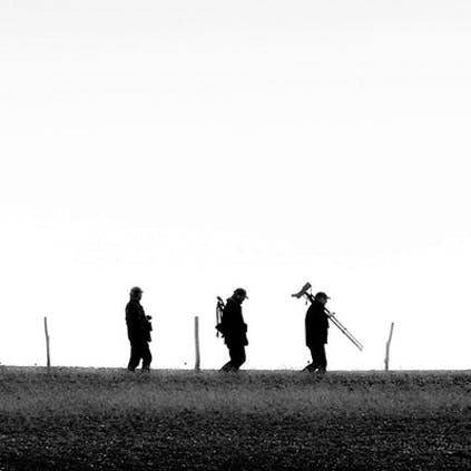 Three birders at Pagham Harbour