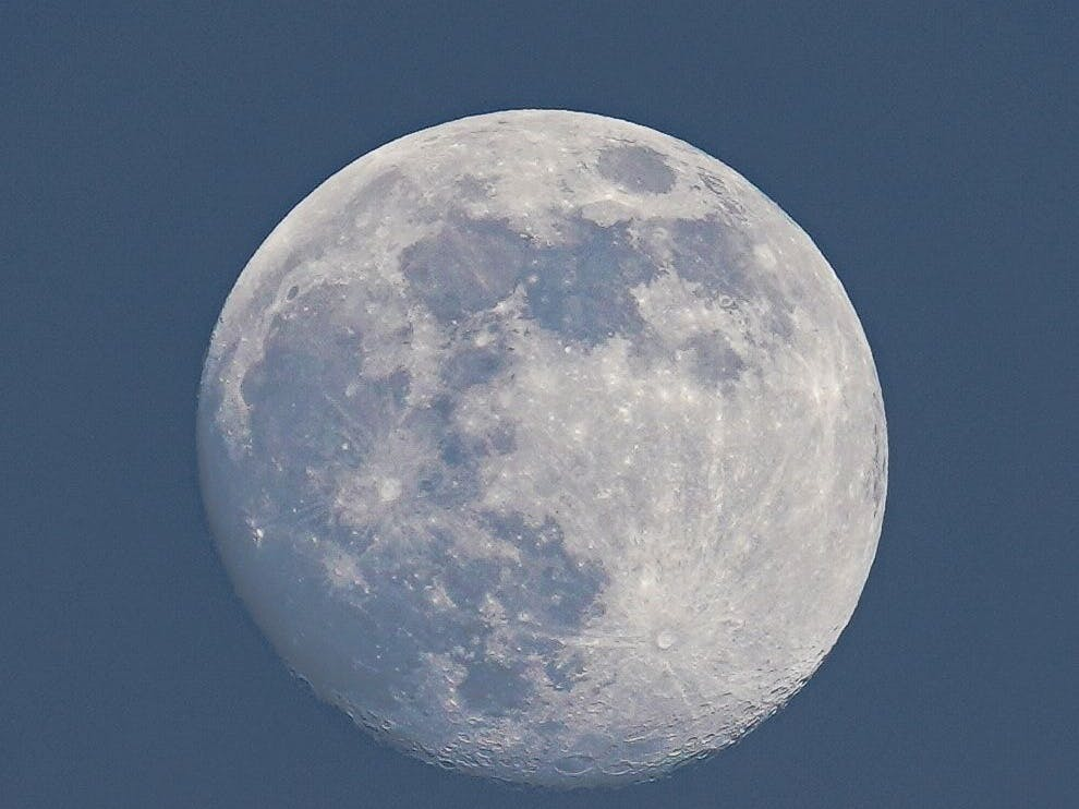 Zoomed in image of the full moon