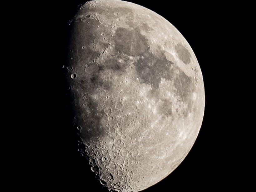 Moon photographed in Selsey