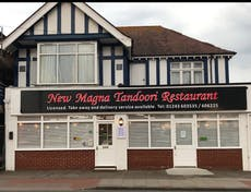 The frontage of the New Magna Tandoori Restaurant
