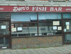 Shop frontage of Den's Fish Bar