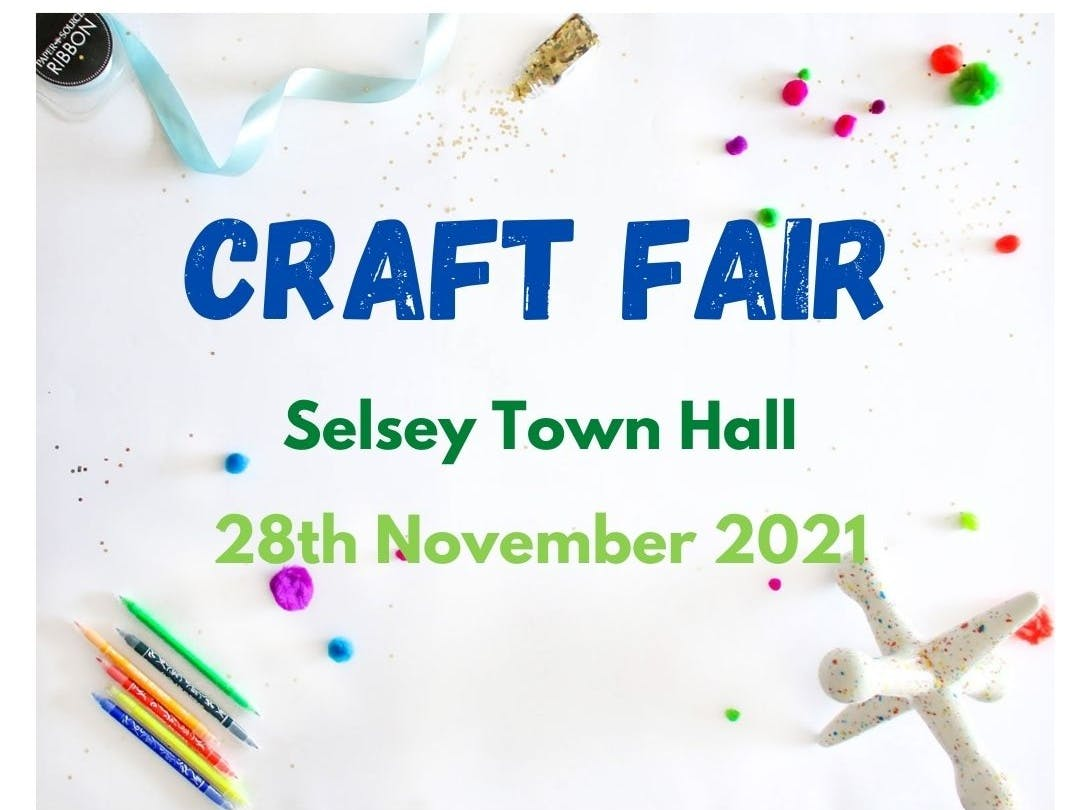Craft Fair Selsey Town Hall 28th November 2021
