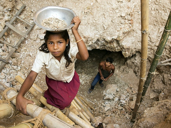 Childlabour in mica mines