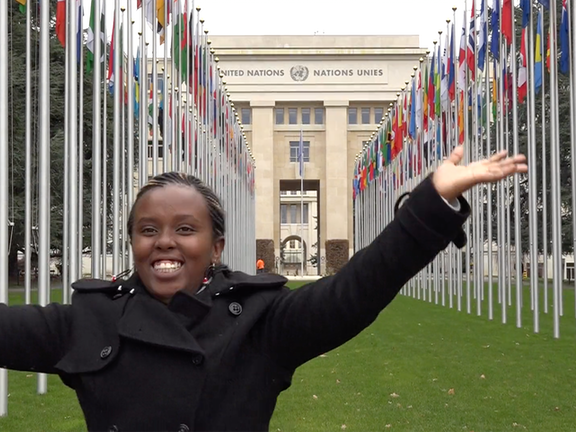 KENYAN EMILY (20) ADDRESSES THE UN HUMAN RIGHTS COUNCIL