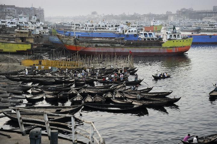 Bangladesh met hoofdstad Dhaka is een van de drukst bevolkte landen ter wereld