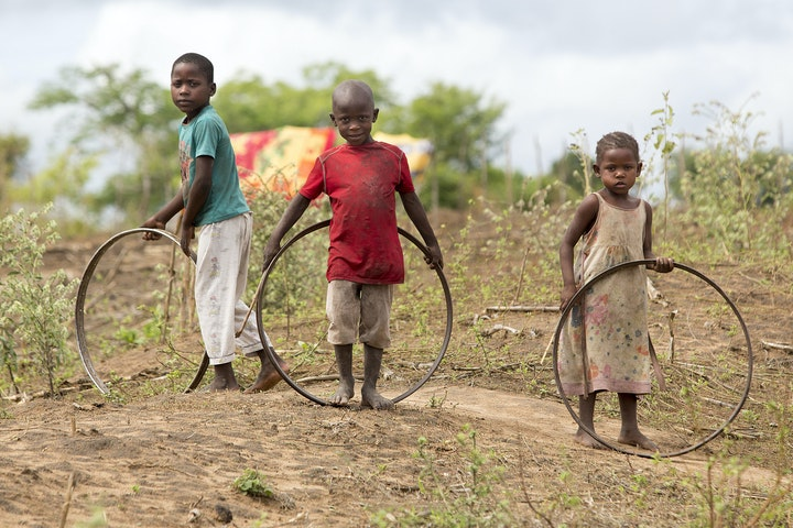 Children playing in Kwale county, Kenya. TDH research (2015) showed that up to 40% of underaged <18 expercience some form of commercial child sexual exploitation