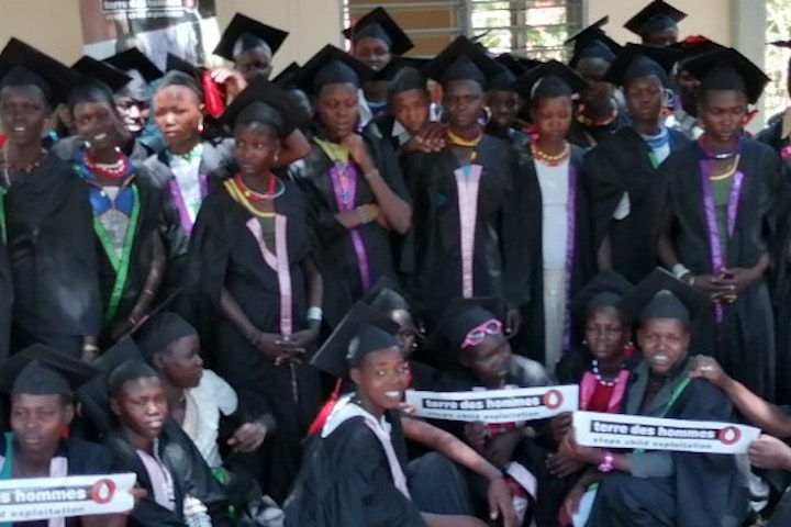 VT graduation of ex child labourers in Moroto gold mines