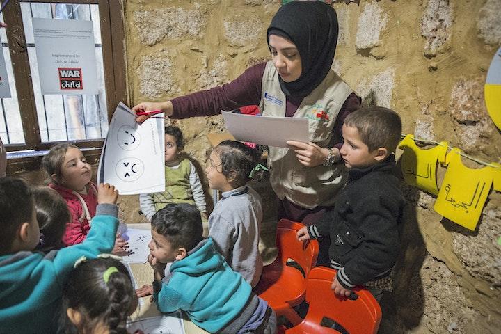Onderwijs aan Syrische kinderen in Libanon