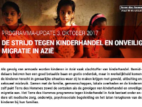 Programma update: Kinderhandel in Azië 2017 Terre des Hommes