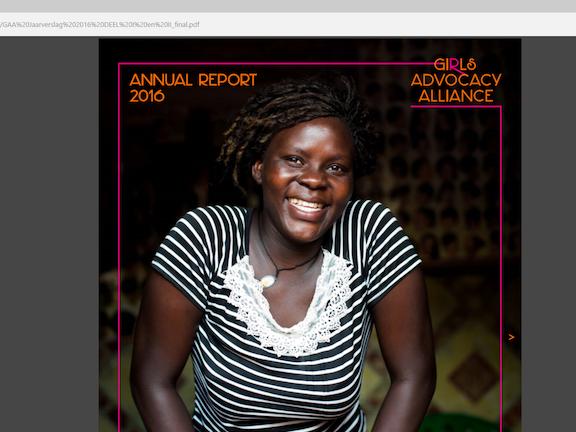 Girls Advocacy Alliance Annual Report 2016 Terre des Hommes seksuele uitbuiting van kinderen