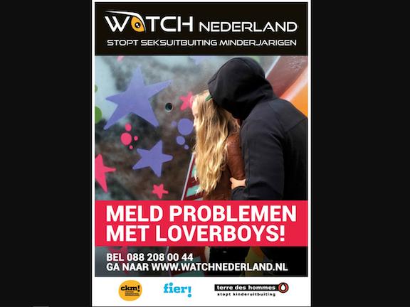 Strijd mee tegen loverboys, bestel de poster! Seksuele uitbuiting van kinderen Nederland Terre des Hommes