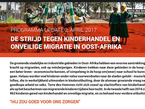 Programma update: Kinderhandel in Afrika april 2017 Terre des Hommes