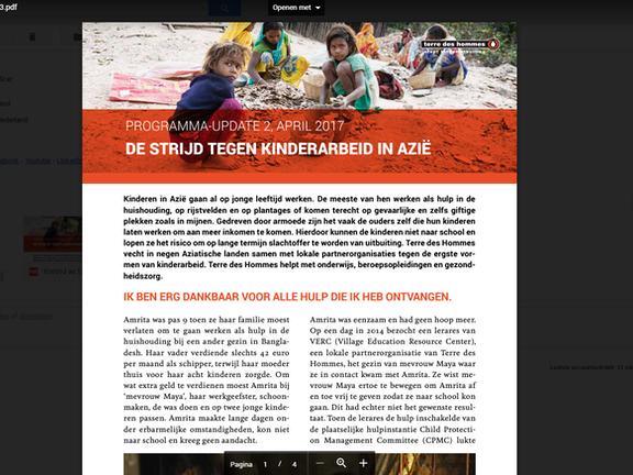Programma update: Kinderhandel in Azie april 2017