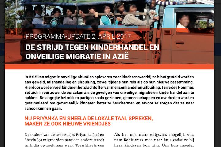Programma update: Kinderhandel in Azie april 2017