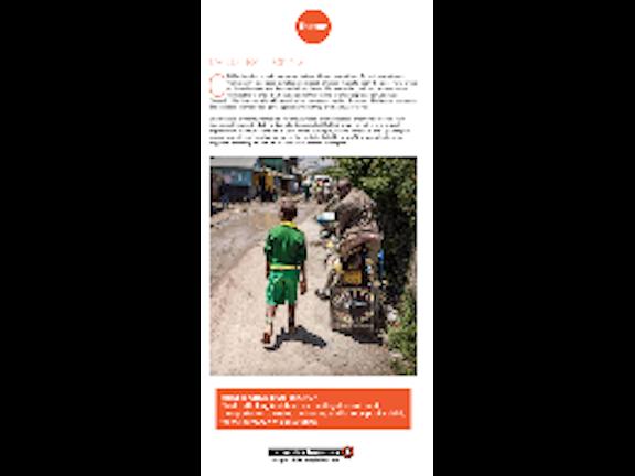 Factsheet about Terre des Hommes Netherlands' programme addressing Child Trafficking and Unsafe Migration in East Africa.