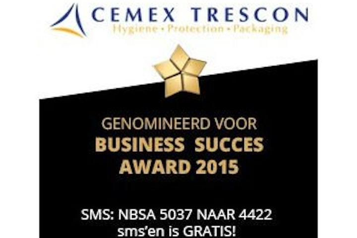 Het bedrijf Cemex Trescon wil een geldprijs van €100.000 schenken aan een aantal goede doel waaronder Terre des Hommes als het de Nationale Business Succes Award 2015 wint.