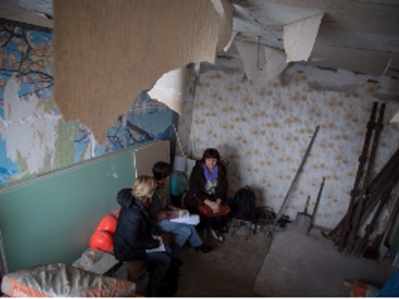Humanitarian aid for displaced in Ukraine