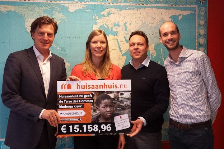 Huisaanhuis.nu zamelt €15.158,96 in voor Terre des Hommes