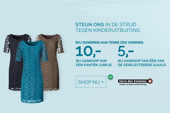 Modemerk La Ligna heeft unieke sjaals en kanten jurkjes ontwikkeld, waarvan een deel van het aankoopbedrag wordt gedoneerd aan Terre des Hommes.