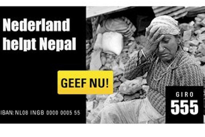 Nationale Actie voor slachtoffers aardbeving Nepal