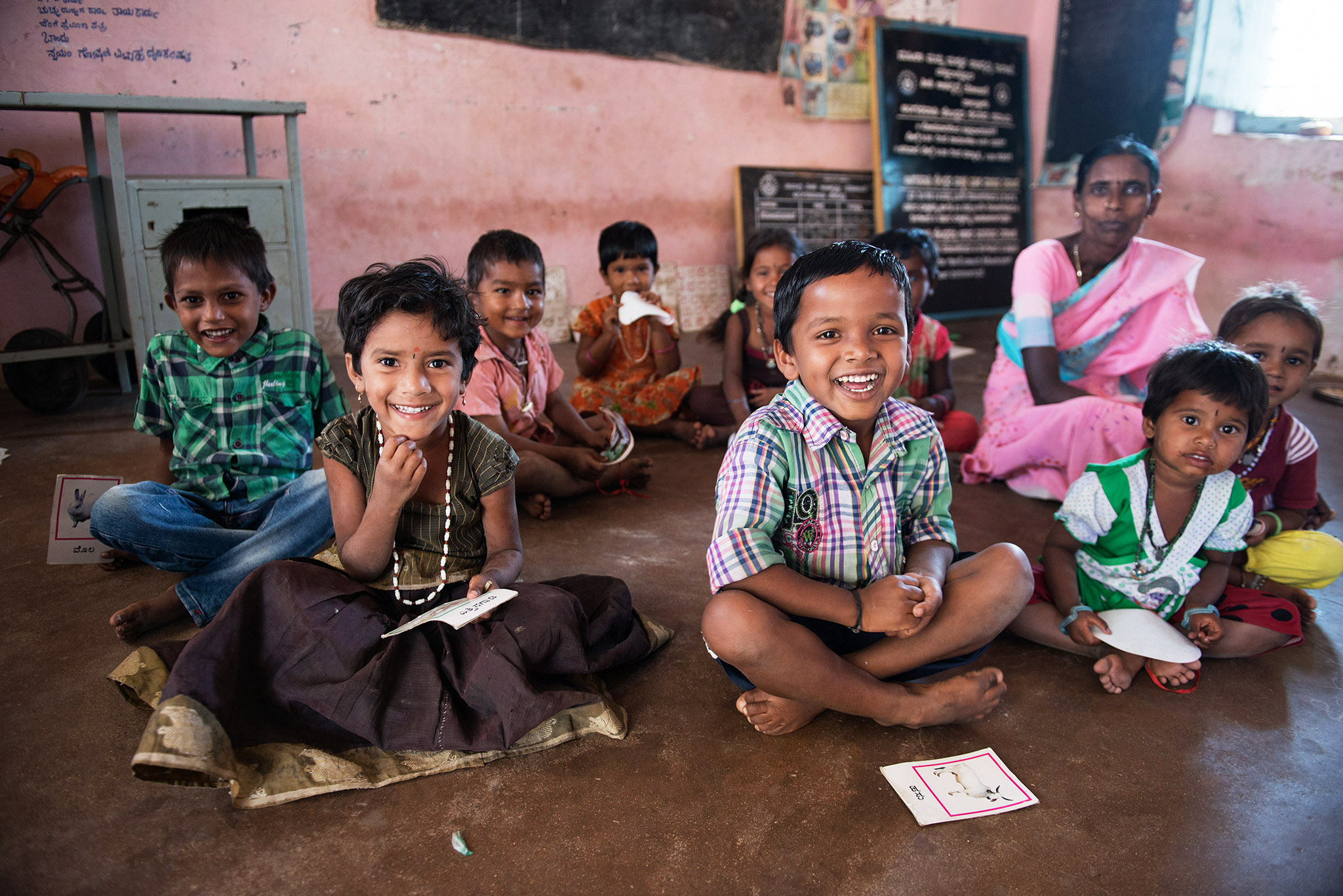 Smiling children in a schoolclass