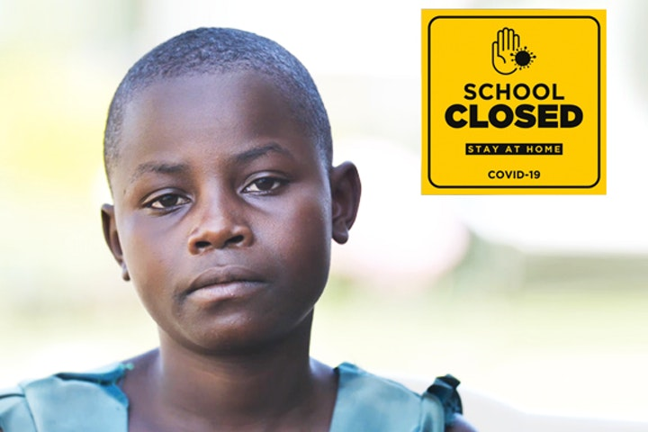 Vulnerable children, like Emelda, are at risk worldwide due to the corona crisis.