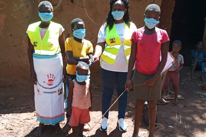 Children wearing face masks for Covid 19 prevention