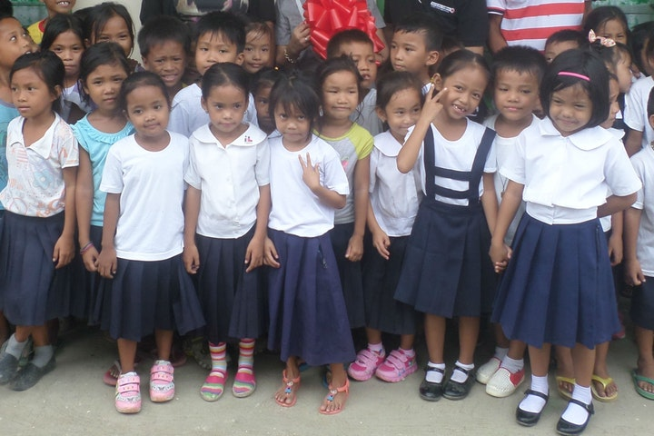 hulpverlening  tyfoon Haiyan over de Filipijnen