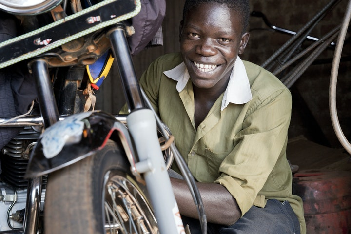 Erikzakeri (17 years) from Bugiri Uganda survived a pit collapsing accident