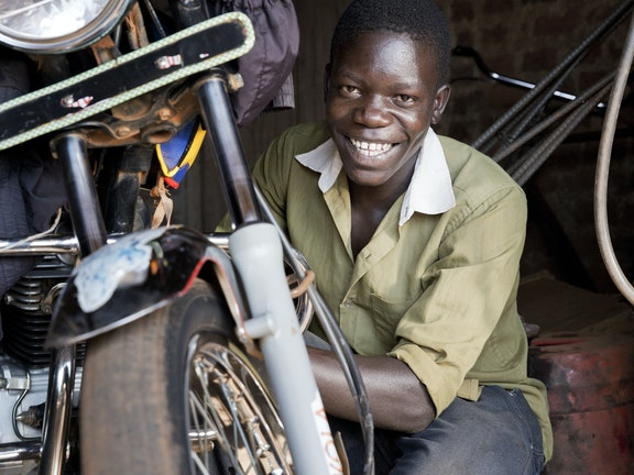 Erikzakeri (17 years) from Bugiri Uganda survived a pit collapsing accident