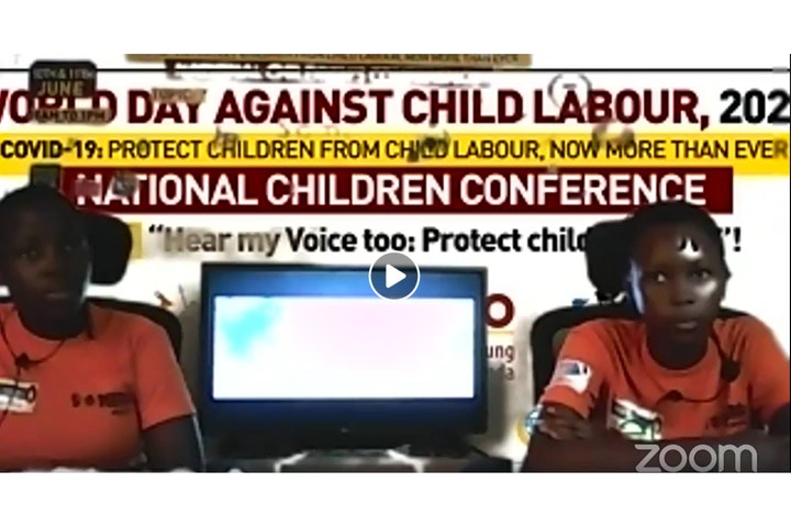 Virtual conference for Ugandan children on COVID-19 and child labour