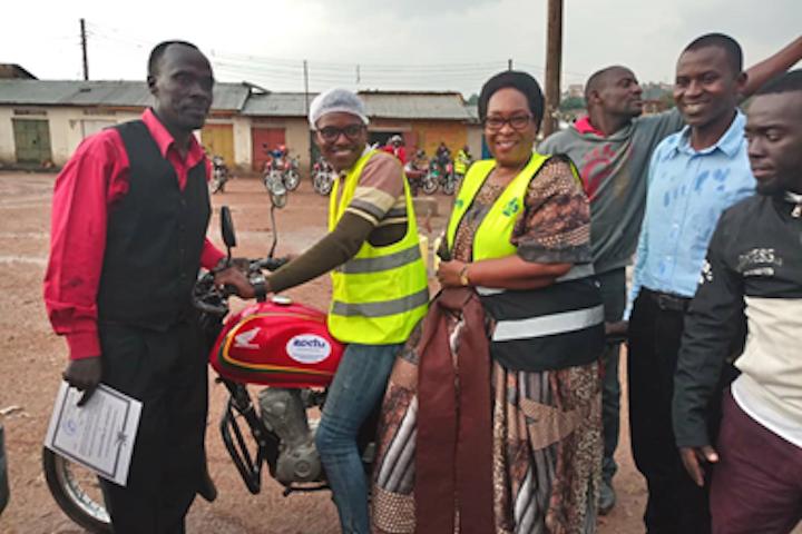 Motorbike (or boda boda) riders in Kampala