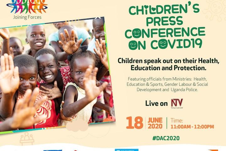 Children's press conference on COVID-19
