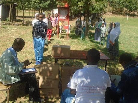 Ethiopian pupils receive hygiene items to prevent COVID-19