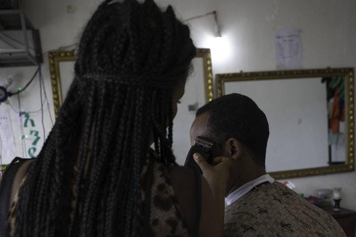 Barbershop in Bahir Dar, Ethiopia