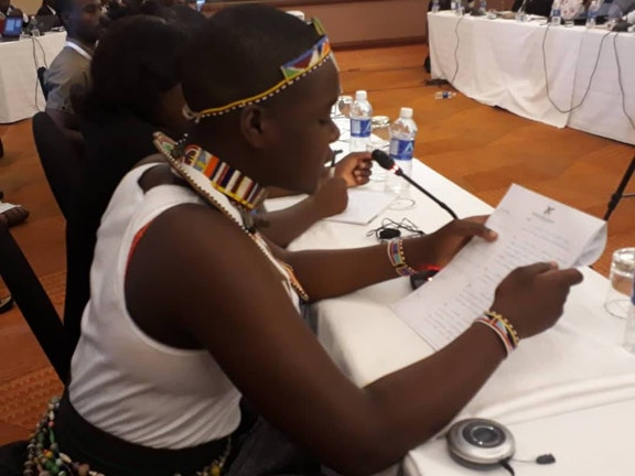 Sonia representing Uganda at the 6th African Regional Forum on SDGs in Zimbabwe