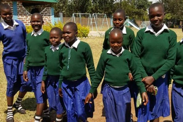 Rhobi and her fellow pupils in school in Masanga, Tanzania