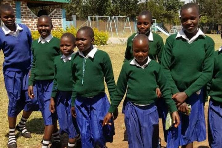 Rhobi and her fellow pupils in school in Masanga, Tanzania