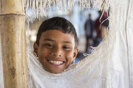 A smilling boy from Nepal
