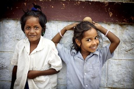 Happy children from India