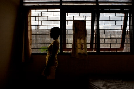 Child inside the house