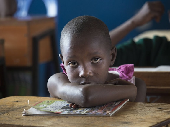 Kuria girl in the Masanga rescue centre, Tanzania